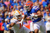 Florida Gators running back Malik Davis (20) rushing as the Gators defeat SEC East rival the University of Tennessee Volunteers at Ben Hill Griffin Stadium in Gainesville, Florida on September 21st, 2019 (Photo by David Bowie/Gatorcountry)