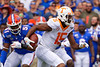 Tennessee Volunteers wide receiver Jauan Jennings (15) as the Gators defeat SEC East rival the University of Tennessee Volunteers at Ben Hill Griffin Stadium in Gainesville, Florida on September 21st, 2019 (Photo by David Bowie/Gatorcountry)