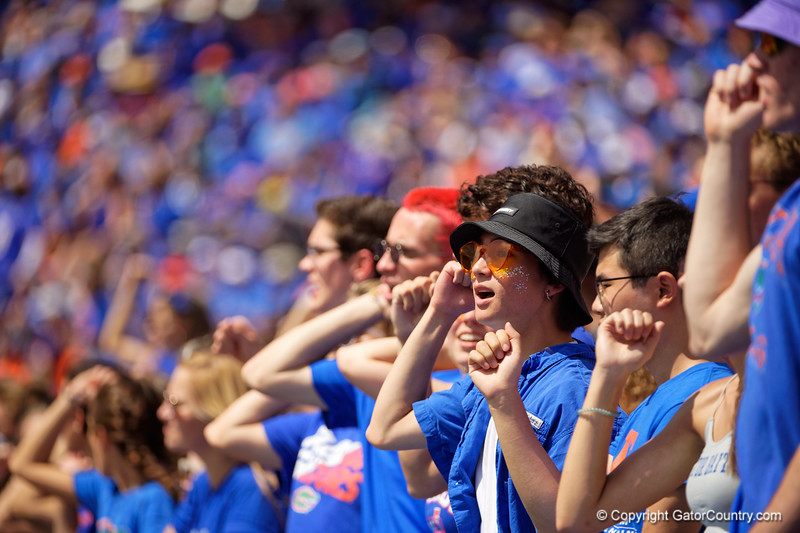 Florida Gators fans cheer on as the Gators defeat SEC East rival the University of Tennessee Volunteers at Ben Hill Griffin Stadium in Gainesville, Florida on September 21st, 2019 (Photo by David Bowie/Gatorcountry)