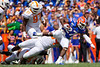 Florida Gators running back Dameon Pierce (27) rushing as the Gators defeat SEC East rival the University of Tennessee Volunteers at Ben Hill Griffin Stadium in Gainesville, Florida on September 21st, 2019 (Photo by David Bowie/Gatorcountry)