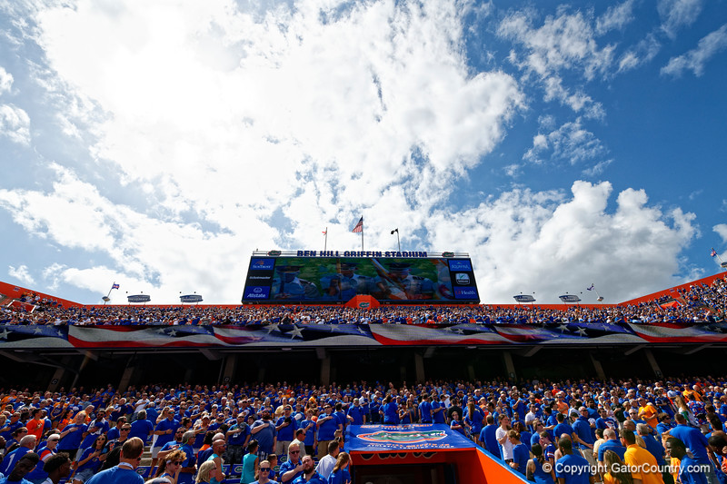 Ben Hill Griffin Stadium as the Gators defeat SEC East rival the University of Tennessee Volunteers at Ben Hill Griffin Stadium in Gainesville, Florida on September 21st, 2019 (Photo by David Bowie/Gatorcountry)