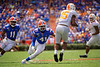 Florida Gators linebacker James Houston IV (41) tackling Tennessee Volunteers wide receiver Jauan Jennings (15) as the Gators defeat SEC East rival the University of Tennessee Volunteers at Ben Hill Griffin Stadium in Gainesville, Florida on September 21st, 2019 (Photo by David Bowie/Gatorcountry)