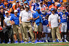 Florida Gators head coach Dan Mullen as the Gators defeat SEC East rival the University of Tennessee Volunteers at Ben Hill Griffin Stadium in Gainesville, Florida on September 21st, 2019 (Photo by David Bowie/Gatorcountry)