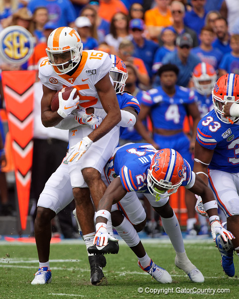 as the Gators defeat SEC East rival the University of Tennessee Volunteers at Ben Hill Griffin Stadium in Gainesville, Florida on September 21st, 2019 (Photo by David Bowie/Gatorcountry)