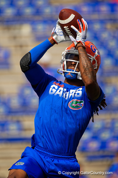 Florida Gators defensive back Jaydon Hill (23) during pregame as the Gators defeat SEC East rival the University of Tennessee Volunteers at Ben Hill Griffin Stadium in Gainesville, Florida on September 21st, 2019 (Photo by David Bowie/Gatorcountry)