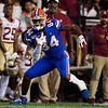 Florida Gators tight end Kyle Pitts (84) as the Gators hosted and defeated the Florida State Seminoles 40-17 at Ben Hill Griffin Stadium in Gainesville, Florida on November 30th, 2019 (Photo by David Bowie/Gatorcountry)