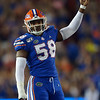Florida Gators linebacker Jonathan Greenard (58) as the Gators hosted and defeated the Florida State Seminoles 40-17 at Ben Hill Griffin Stadium in Gainesville, Florida on November 30th, 2019 (Photo by David Bowie/Gatorcountry)