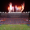 Fireworks light up the sky over the stadium as the Gators hosted and defeated the Florida State Seminoles 40-17 at Ben Hill Griffin Stadium in Gainesville, Florida on November 30th, 2019 (Photo by David Bowie/Gatorcountry)