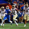 Florida Gators wide receiver Kadarius Toney (1) as the Gators hosted and defeated the Florida State Seminoles 40-17 at Ben Hill Griffin Stadium in Gainesville, Florida on November 30th, 2019 (Photo by David Bowie/Gatorcountry)