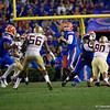 Florida Gators quarterback Kyle Trask (11) as the Gators hosted and defeated the Florida State Seminoles 40-17 at Ben Hill Griffin Stadium in Gainesville, Florida on November 30th, 2019 (Photo by David Bowie/Gatorcountry)