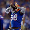 Florida Gators linebacker Jonathan Greenard (58) celebrates after a sack as the Gators hosted and defeated the Florida State Seminoles 40-17 at Ben Hill Griffin Stadium in Gainesville, Florida on November 30th, 2019 (Photo by David Bowie/Gatorcountry)