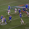 Florida Gators quarterback Kyle Trask (11) throwing to Florida Gators wide receiver Tyrie Cleveland (89) as the Gators hosted and defeated the Florida State Seminoles 40-17 at Ben Hill Griffin Stadium in Gainesville, Florida on November 30th, 2019 (Photo by David Bowie/Gatorcountry)