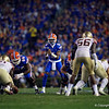 Florida Gators quarterback Emory Jones (5) as the Gators hosted and defeated the Florida State Seminoles 40-17 at Ben Hill Griffin Stadium in Gainesville, Florida on November 30th, 2019 (Photo by David Bowie/Gatorcountry)