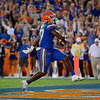 Florida Gators running back Dameon Pierce (27) rushes into the endzone as the Gators hosted and defeated the Florida State Seminoles 40-17 at Ben Hill Griffin Stadium in Gainesville, Florida on November 30th, 2019 (Photo by David Bowie/Gatorcountry)