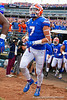 Florida Gators tight end Lucas Krull (7) takes the field during pregame as the #6 prepare to take on the #6 Georgia Bulldogs at TIAA Bank Field in Jacksonville, Florida on November 2nd, 2019 (Photo by David Bowie/Gatorcountry)