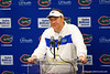 Florida Gators head coach Dan Mullen during the post-game press conference as the #6 Gators lose to the #6 Georgia Bulldogs 24-17 at TIAA Bank Field in Jacksonville, Florida on November 2nd, 2019 (Photo by David Bowie/Gatorcountry)
