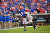 Florida Gators tight end Kyle Pitts (84) leaps for a pass with Georgia Bulldogs defensive back Richard LeCounte (2) defending as the #6 Gators lose to the #6 Georgia Bulldogs 24-17 at TIAA Bank Field in Jacksonville, Florida on November 2nd, 2019 (Photo by David Bowie/Gatorcountry)