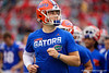 Florida Gators quarterback Kyle Trask (11) during pregame as the #6 prepare to take on the #6 Georgia Bulldogs at TIAA Bank Field in Jacksonville, Florida on November 2nd, 2019 (Photo by David Bowie/Gatorcountry)