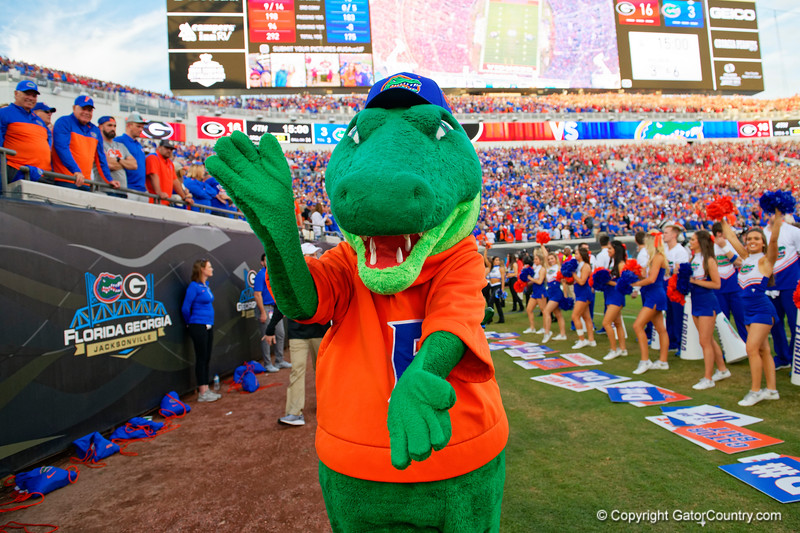 as the #6 Gators lose to the #6 Georgia Bulldogs 24-17 at TIAA Bank Field in Jacksonville, Florida on November 2nd, 2019 (Photo by David Bowie/Gatorcountry)