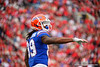 Florida Gators wide receiver Tyrie Cleveland (89) as the #6 Gators lose to the #6 Georgia Bulldogs 24-17 at TIAA Bank Field in Jacksonville, Florida on November 2nd, 2019 (Photo by David Bowie/Gatorcountry)