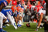 Florida Gators defensive lineman Luke Ancrum (98) and the defensive line get set for a snap as the #6 Gators lose to the #6 Georgia Bulldogs 24-17 at TIAA Bank Field in Jacksonville, Florida on November 2nd, 2019 (Photo by David Bowie/Gatorcountry)
