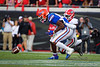 Georgia Bulldogs defensive back Divaad Wilson (1) breaks up a pass attempt to Florida Gators tight end Kyle Pitts (84) as the #6 Gators lose to the #6 Georgia Bulldogs 24-17 at TIAA Bank Field in Jacksonville, Florida on November 2nd, 2019 (Photo by David Bowie/Gatorcountry)