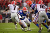 Florida Gators linebacker Ventrell Miller (51) tries to chase down Georgia Bulldogs running back D'Andre Swift (7) as the #6 Gators lose to the #6 Georgia Bulldogs 24-17 at TIAA Bank Field in Jacksonville, Florida on November 2nd, 2019 (Photo by David Bowie/Gatorcountry)