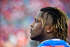 Florida Gators defensive lineman Adam Shuler (88) as the #6 Gators lose to the #6 Georgia Bulldogs 24-17 at TIAA Bank Field in Jacksonville, Florida on November 2nd, 2019 (Photo by David Bowie/Gatorcountry)