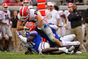 Florida Gators defensive back Shawn Davis (31) tackles Georgia Bulldogs tight end Charlie Woerner (89) as the #6 Gators lose to the #6 Georgia Bulldogs 24-17 at TIAA Bank Field in Jacksonville, Florida on November 2nd, 2019 (Photo by David Bowie/Gatorcountry)