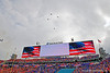 A flyover during pregame as the #6 prepare to take on the #6 Georgia Bulldogs at TIAA Bank Field in Jacksonville, Florida on November 2nd, 2019 (Photo by David Bowie/Gatorcountry)