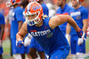 Florida Gators tight end Lucas Krull (7) during pregame as the Gators defeat the Towson Tigers 38-0 at Ben Hill Griffin Stadium in Gainesville, Florida on September 28th, 2019 (Photo by David Bowie/Gatorcountry)