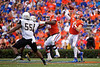 Florida Gators quarterback Kyle Trask (11) throwing as the Gators defeat the Towson Tigers 38-0 at Ben Hill Griffin Stadium in Gainesville, Florida on September 28th, 2019 (Photo by David Bowie/Gatorcountry)