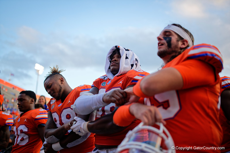 Florida Gators offensive lineman Nick Buchanan (66) as the Gators defeat the Towson Tigers 38-0 at Ben Hill Griffin Stadium in Gainesville, Florida on September 28th, 2019 (Photo by David Bowie/Gatorcountry)