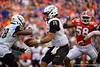 Towson Tigers quarterback Tom Flacco (14) as the Gators defeat the Towson Tigers 38-0 at Ben Hill Griffin Stadium in Gainesville, Florida on September 28th, 2019 (Photo by David Bowie/Gatorcountry)