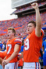 Florida Gators place kicker Evan McPherson (19)as the Gators defeat the Towson Tigers 38-0 at Ben Hill Griffin Stadium in Gainesville, Florida on September 28th, 2019 (Photo by David Bowie/Gatorcountry)