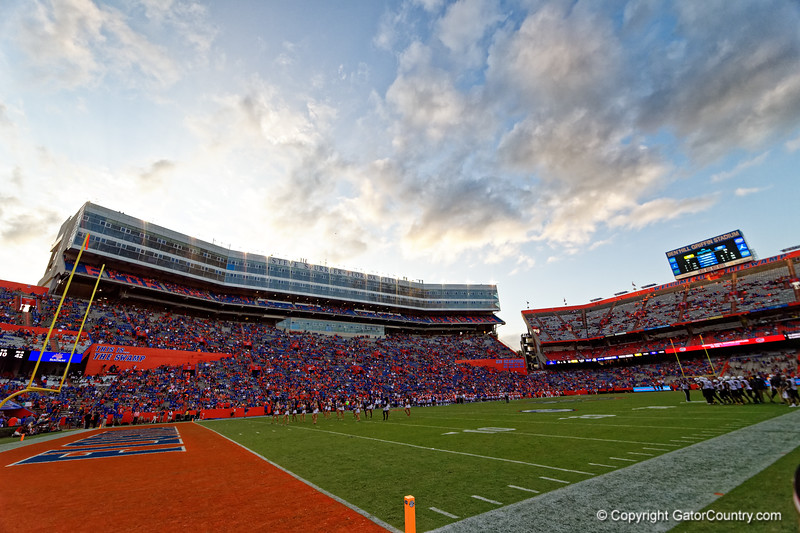 Steve Spurrier Field as the Gators defeat the Towson Tigers 38-0 at Ben Hill Griffin Stadium in Gainesville, Florida on September 28th, 2019 (Photo by David Bowie/Gatorcountry)