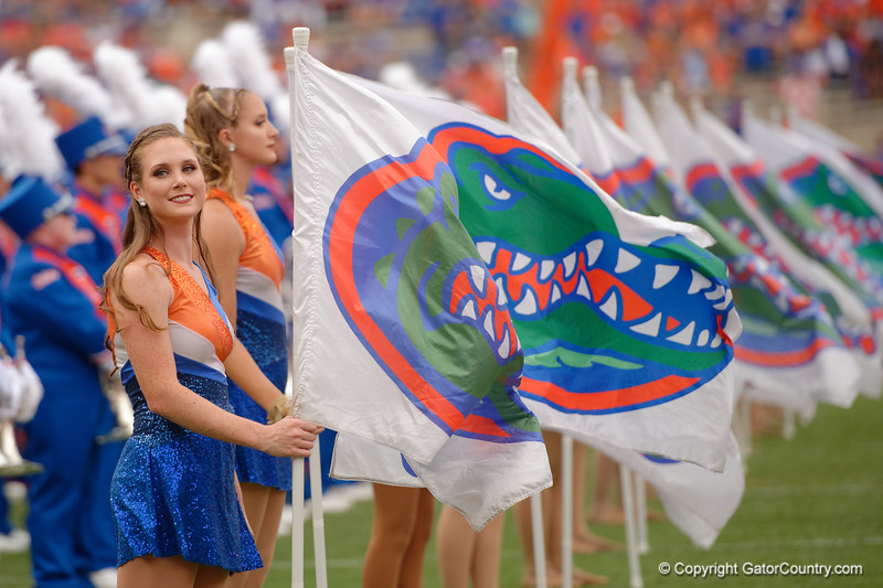 Thje University of Florida Gators marching band performs as the Gators defeat the Towson Tigers 38-0 at Ben Hill Griffin Stadium in Gainesville, Florida on September 28th, 2019 (Photo by David Bowie/Gatorcountry)
