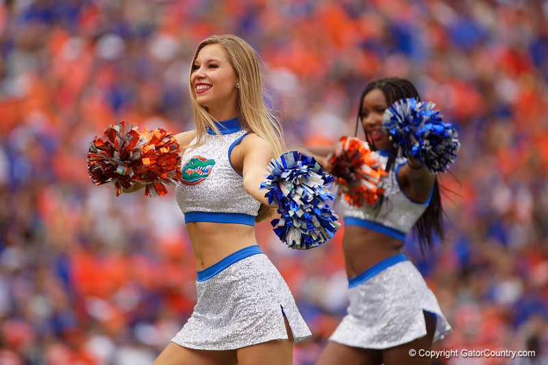 The Dazzlers perform as the Gators defeat the Towson Tigers 38-0 at Ben Hill Griffin Stadium in Gainesville, Florida on September 28th, 2019 (Photo by David Bowie/Gatorcountry)