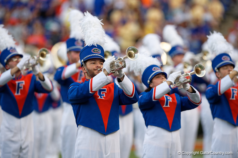 The University of Florida Band performs prior to kickoff as the Gators faced the Tennessee-Martin Skyhawks at Ben Hill Griffin Stadium in Gainesville, Florida on September 8th, 2019 (Photo by David Bowie/Gatorcountry)