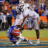 Florida Gators wide receiver Jacob Copeland (15) catches his first touchdown as a Gator, as the Gators faced the Tennessee-Martin Skyhawks at Ben Hill Griffin Stadium in Gainesville, Florida on September 8th, 2019 (Photo by David Bowie/Gatorcountry)