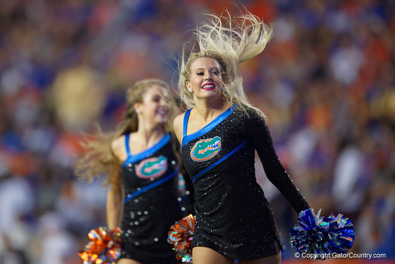 The Florida Gators Dazzlers perform as the Gators faced the Tennessee-Martin Skyhawks at Ben Hill Griffin Stadium in Gainesville, Florida on September 8th, 2019 (Photo by David Bowie/Gatorcountry)