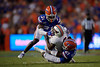 Florida Gators defensive back Shawn Davis (31) and Florida Gators defensive back Trey Dean III (21) tackling Tennessee Martin Skyhawks wide receiver Terry Williams (6) as the Gators faced the Tennessee-Martin Skyhawks at Ben Hill Griffin Stadium in Gainesville, Florida on September 8th, 2019 (Photo by David Bowie/Gatorcountry)
