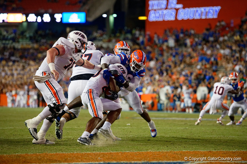 Florida Gators defensive lineman Tedarrell Slaton (56) as the Gators faced the Tennessee-Martin Skyhawks at Ben Hill Griffin Stadium in Gainesville, Florida on September 8th, 2019 (Photo by David Bowie/Gatorcountry)