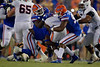 Florida Gators linebacker Andrew Chatfield Jr. (90) and Florida Gators defensive lineman Zachary Carter (17) as the Gators faced the Tennessee-Martin Skyhawks at Ben Hill Griffin Stadium in Gainesville, Florida on September 8th, 2019 (Photo by David Bowie/Gatorcountry)