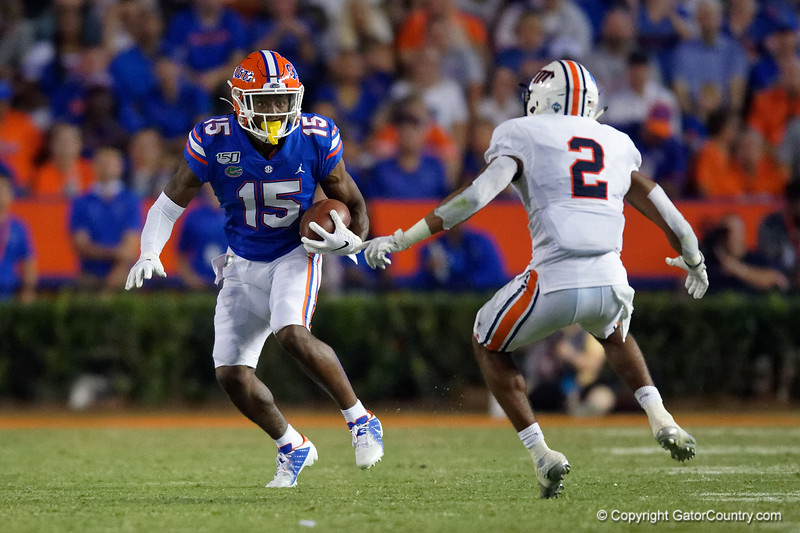 Florida Gators wide receiver Jacob Copeland (15) as the Gators faced the Tennessee-Martin Skyhawks at Ben Hill Griffin Stadium in Gainesville, Florida on September 8th, 2019 (Photo by David Bowie/Gatorcountry)