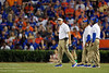 Florida Gators head coach Dan Mullen as the Gators faced the Tennessee-Martin Skyhawks at Ben Hill Griffin Stadium in Gainesville, Florida on September 8th, 2019 (Photo by David Bowie/Gatorcountry)