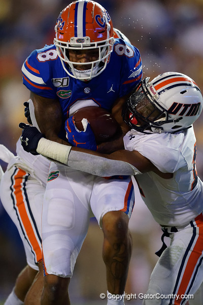 Florida Gators wide receiver Trevon Grimes (8) as the Gators faced the Tennessee-Martin Skyhawks at Ben Hill Griffin Stadium in Gainesville, Florida on September 8th, 2019 (Photo by David Bowie/Gatorcountry)