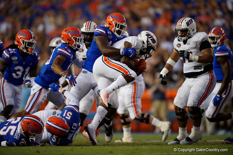 Florida Gators linebacker James Houston IV (41) as the Gators faced the Tennessee-Martin Skyhawks at Ben Hill Griffin Stadium in Gainesville, Florida on September 8th, 2019 (Photo by David Bowie/Gatorcountry)