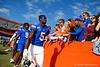 Florida Gators defensive back Kaiir Elam (5) and the Gators celebrate after defeating the Vanderbilt Commodores 56-0 at Ben Hill Griffin Stadium in Gainesville, Florida on November 9th, 2019 (Photo by David Bowie/Gatorcountry