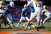 Florida Gators quarterback Emory Jones (5) takes the snap and rushes into the endzone as the Gators faced and defeat the Vanderbilt Commodores 56-0 at Ben Hill Griffin Stadium in Gainesville, Florida on November 9th, 2019 (Photo by David Bowie/Gatorcountry)